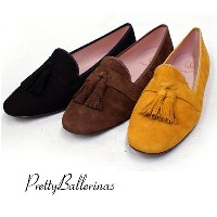 ≪NEW秋物も入荷!≫Pretty Ballerinas(プリティバレリーナ) の姉妹ブランドPRETTY LOAFERS FAYE SUEDE TASSELE SELECTION ...