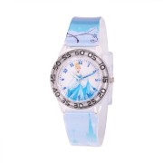 ディズニー 腕時計 キッズ 時計 子供用 シンデレラ Disney Kids' W001195 Cinderella plastic, printed blue plastic strap watch