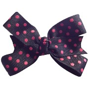 MANDY Baby Bows Black with Pink Dot