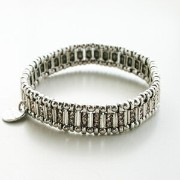 【PHILIPPE AUDIBERT/フィリップオーディベール】mini Ava bracelet silver color, silk