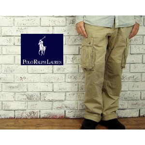 POLO by Ralph Lauren ラルフローレン RELAXED FIT カーゴパンツ/BEIGE