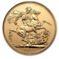 Great Britain 2010 Gold Sovereign (BU) クリアーケース付き