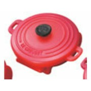 LE CREUSET/ル・クルーゼ プラスチック・ピン ココットロンド(4個入)940061 チェリーレッド