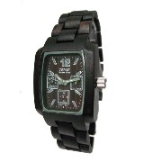 テンス 時計 メンズ 腕時計 木製 Tense Dark Sandalwood Rectangular Mens Wood Watch J8302D