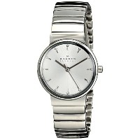 スカーゲン 腕時計 レディース 時計 Skagen Women's SKW2198 Ancher Quartz 3 Hand Stainless Steel Silver Watch