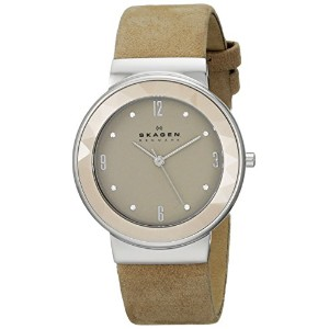 スカーゲン 腕時計 レディース 時計 Skagen Women's SKW2221 Leonora Quartz 3 Hand Stainless Steel Light Brown Watch
