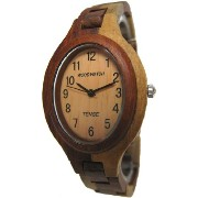 テンス 時計 レディース 腕時計 木製 Tense Multicolored Wood Oval Womens Wrist Watch L7301I LF