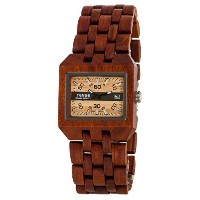 テンス 時計 腕時計 木製 Tense Discovery Comox Rectangular Sandalwood Wooden Watch B5100S