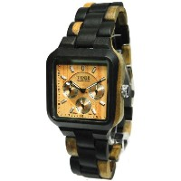 テンス 時計 腕時計 木製 Tense Square Natural Dark Maple Hypoallergentic Watch B7305DM