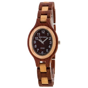 テンス 時計 腕時計 木製 Tense Oval Sandalwood & Maple Natural Two Tone Wood Watch L7301SM DF