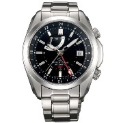 オリエント 時計 オリエントスター 腕時計 Orient Star Seeker Automatic GMT Watch with Power Reserve, Sapphire Crystal DJ00001B