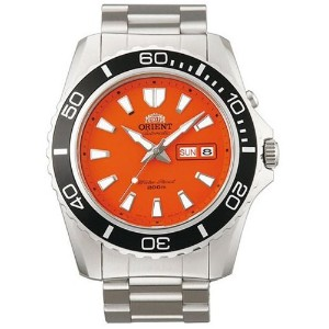 オリエント 時計 腕時計 Orient Orange Dial Mako II Automatic Watch on a Bracelet EM75001M