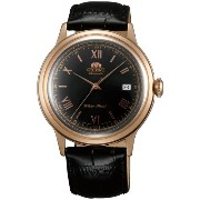 オリエント 時計 メンズ 腕時計 Orient ER24008B Men's Bambino Black Dial Leather Strap Automatic Watch