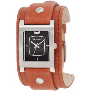 ベスタル 時計 レディース 腕時計 Vestal Women's EA022 Electra Saddle Leather Silver Black Watch