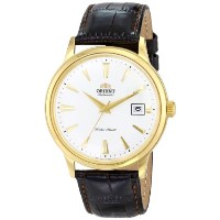 オリエント 時計 メンズ 腕時計 Orient Men's FER24003W0 Bambino Analog Display Japanese Automatic Brown Watch