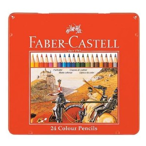 FABER-CASTELL(ファーバーカステル) 色鉛筆 24色セット TFC-CP/24C (1600) 【RCP】