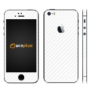 wraplus for iPhoneSE & iPhone5S/5 【ホワイトカーボン】 スキンシール
