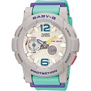 カシオ G-Shock BGA180-3B Baby-G Series Stylish Watch - Green / One Size 女性 レディース...