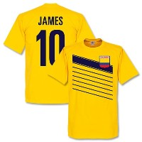 ★SALE★セール★RE-TAKE(リテイク) ハメス・ロドリゲス No.10 Colombia Tシャツ(イエロー)【サッカー サポーター グッズ Tシャツ】