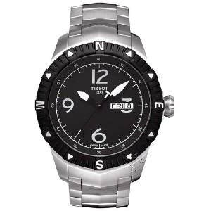 ティソ 腕時計 メンズ 時計 Tissot Men's T0624301105700 Quartz Stainless Steel Black Dial Watch