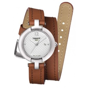 ティソ 腕時計 レディース 時計 Tissot Trend Pinky Silver Dial Light Brown Leather Ladies Watch T0842101601704