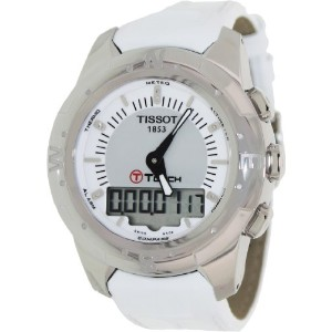 ティソ 腕時計 レディース 時計 Tissot T-Touch II Multi-Function Silver Dial Titanium Ladies Watch T0472204608600