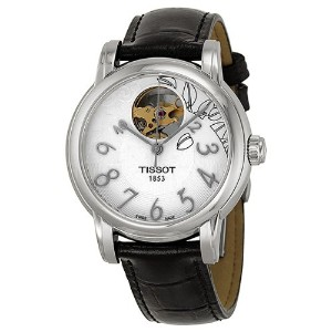 ティソ 腕時計 レディース 時計 Tissot T Classic Automatic White Dial Black Leather Ladies Watch T0502071603200
