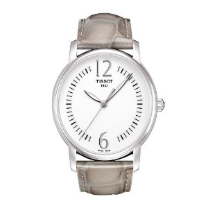ティソ 腕時計 レディース 時計 Tissot T-Trend Lady Round Silver Dial Beige Leather Ladies Watch T0522101603701