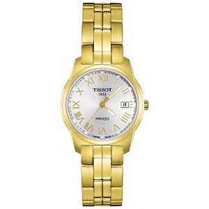 ティソ 腕時計 レディース 時計 Tissot Women's T0492103303300 PR 100 Gold-Tone Silver Dial Watch