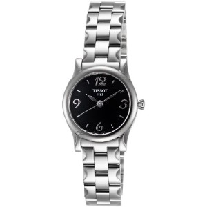 ティソ 腕時計 レディース 時計 Tissot Women's T0282101105700 Stylis-T Black Dial Watch