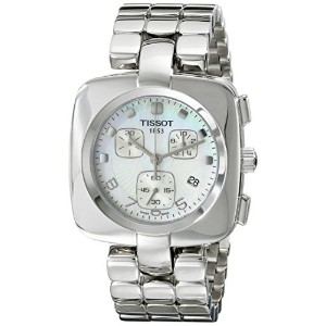 ティソ 腕時計 レディース 時計 Tissot Women's T020.317.11.117.00 Odaci-T Stainless-Steel White Dial Watch