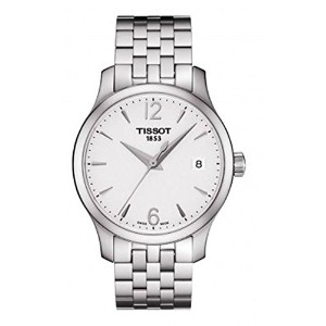 ティソ 腕時計 レディース 時計 Tissot Tradition Silver Dial Stainless Steel Ladies Watch T0632101103700
