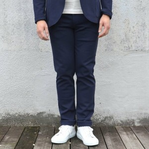 Harris Wharf London(ハリスワーフロンドン)/ Man Trousers Piquet -(358)navy blue-