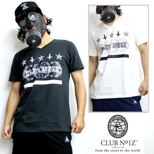 CLUB NO1Z/クラブノイズ G STYLE V NECK T SHIRTS 男女兼用 ペイズリープリント Vネック Tシャツ 黒 白【S-XL】LL 2L 大きいサイズ B系/HIPHOP...