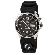 オリエント 時計 メンズ 腕時計 Orient Men's CEM65004B 'Black Mako' Automatic Rubber Strap Dive Watch