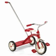 Radio Flyer Classic Tricycle with Push Handle, Red ラジオフライヤー