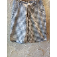 【SALE 40%OFF】 SEVENTY FOUR/CHECKED SHORTS WHITE
