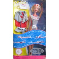 SWIMMING Champion Barbie バービー Doll REALLY SWIMS! U.S.A Olympics (1999) 人形 ドール