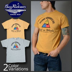 "Buzz Rickson's(バズリクソンズ) S/S T-SHIRT ""2nd ARMORED DIV."" Tシャツ 半袖 BR77041"