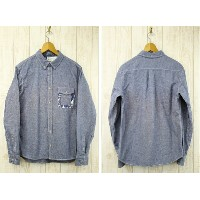 MAGIC NUMBER マジックナンバー Chambray x Original Pattern BD L S Shirts Wash シャンブレーB.Dシャツ 15SS-3015 インディゴ
