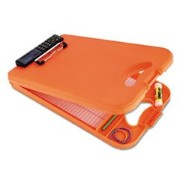 Saunders DeskMate II デスクメイト2 計算機付きクリップボード オレンジ Plastic Storage Clipboard with Calculator, Letter...