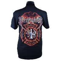 Firefighter Eagle and Flame 消防Tシャツ SH
