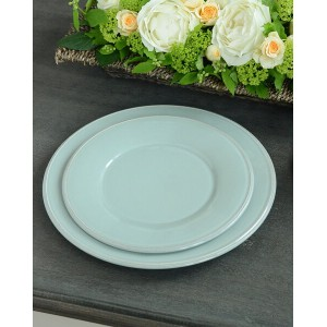 【OUTLET CT12 訳あり品】CONSTANCE SEA GREEN コンスタンス ディナープレート 25289×単品【COTE TABLE(コテ・ターブル) フランス・ディナー皿・丸皿...