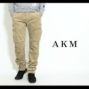 【AKM】AKM×Dickies stretch corduroy/slim banana cargo パンツ
