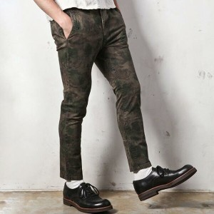 【MROLIVE(ミスターオリーブ)】M-5103 HAND CAMO HI STRETCH TWILL /CROPPED SLIM PANTS
