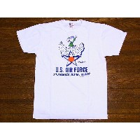 Buzz Rickson's[バズリクソンズ]×PEANUTS[ピーナッツ] Tシャツ スヌーピー SNOOPY U.S. AIR FORCE BR76842 (OFF WHITE)