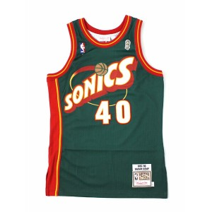 【送料無料】MITCHELL & NESS AUTHENTIC TT-SONICS/1995SK#40【7226-346-95SKEM-GREEN】