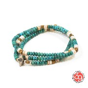 Sunku/39/サンクSK-089 Turquoise Beads Mix Necklace & BraceletアンティークビーズブレスレットNecklace/ネックレスSilver925...