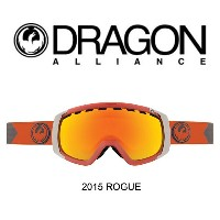 2015 DRAGON ドラゴン ゴーグル GOGGLE ROGUE TITAN/RED IONIZED+YELLOW
