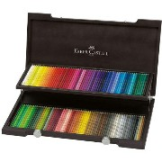 【FABER-CASTELL】ポリクロモス色鉛筆セット120色木箱